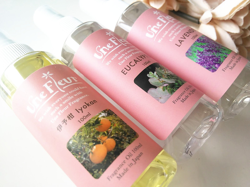 ユヌフルールの3種類のフレグランスオイル